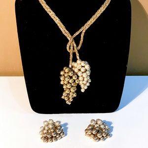 Vintage Hattie Carnegie Necklace & Earrings Set